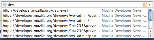 Firefox 2's URL bar - less awesome than AwesomeBar