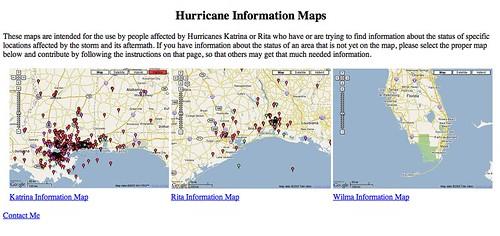 Hurricane Maps Mashups