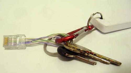 Loopback tester keychain