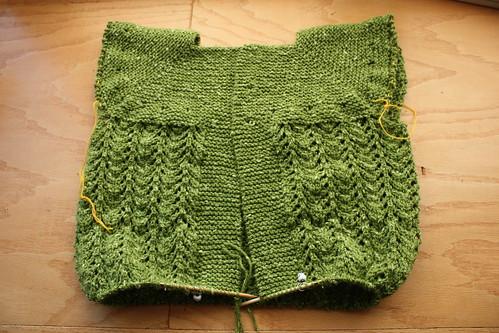 February Lady Sweater in progress