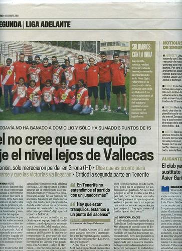 Visita de New Light al estadio del Rayo Vallecano en Marca