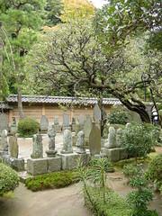 Stone sculptures at Engaku-ji, Kamakura
