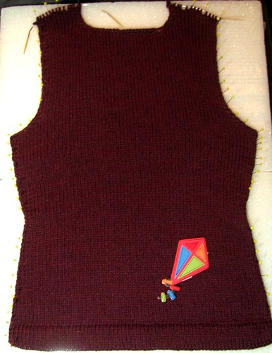 Estela Cardigan Test Knit Back Completed