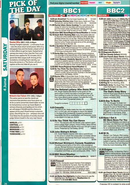 Total TV Guide 4-10 June 2011Listing