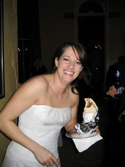Erica eating gyros