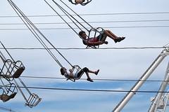 Chunguita & Pulguito on the swings