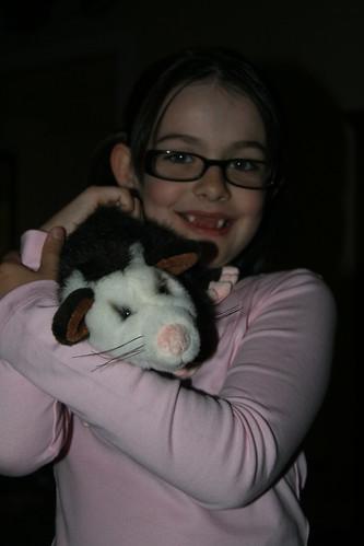 Kathryn and Paula the Opossum