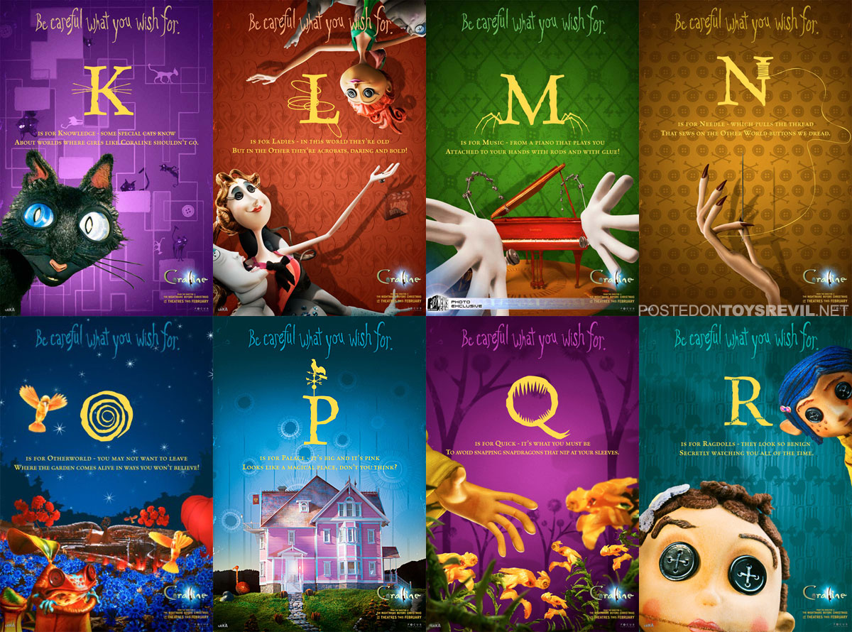 Coraline Alphabet Cards Amp Movie Website Launched