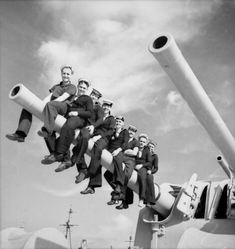 Unidentified sailors on HMAS Perth by Australian War Memorial collection