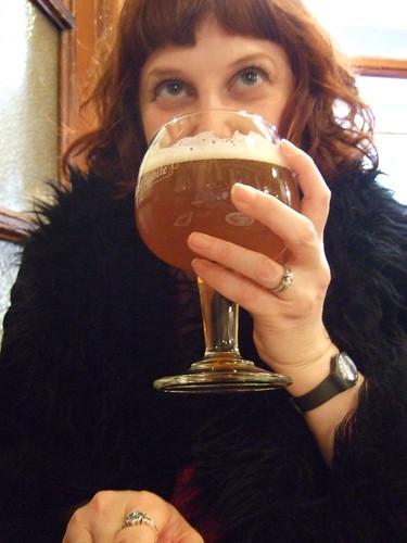 Me drinking gueuze in A la Morte Subite
