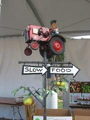 Slow food, slow food cookout, buy slow food, farmer, tractor, slow food nation, farmer's market, friday farmer's market,