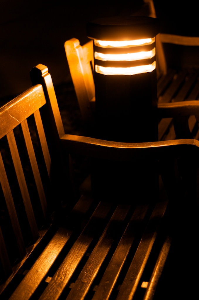 Park Bench and Light.