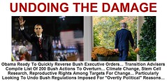 Obama Positioned to Quickly Reverse Bush Actions