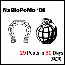 NaBloPoMo 08 loser badge