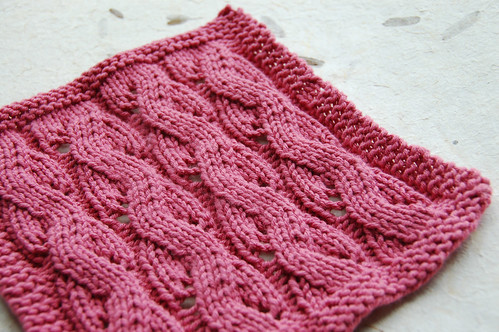 Dishcloth in lace pattern