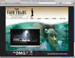 The Fair Trade movie homepage screenshot