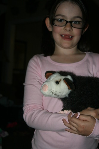 Kathryn and Paula the Opossum