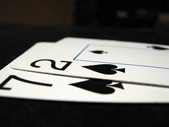 Seven deuce suited playing cards
