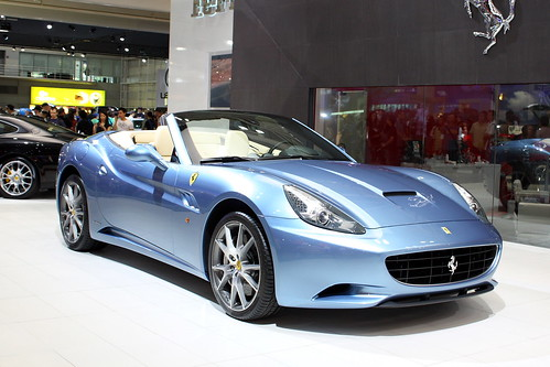 Blue Ferrari California