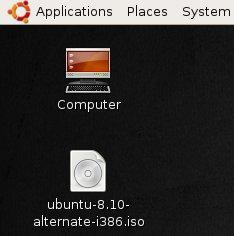 Arsip ISO Ubuntu 8.10 Alternate CD