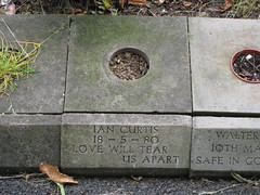 Ian Curtis' final resting place