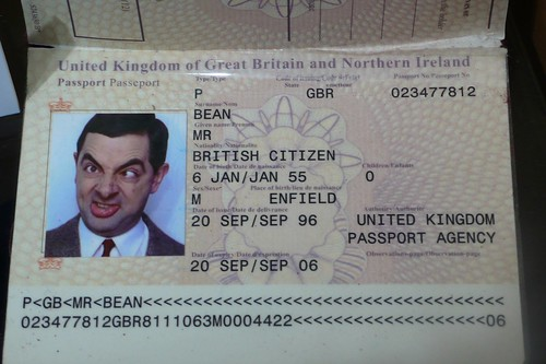 Mr. Bean passport by benoit.deckmyn, on Flickr
