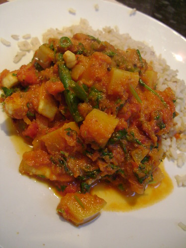 Butternut Squash , Bean and Paneer Curry