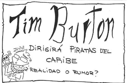 tim burton y piratas del caribe 4 por ti.