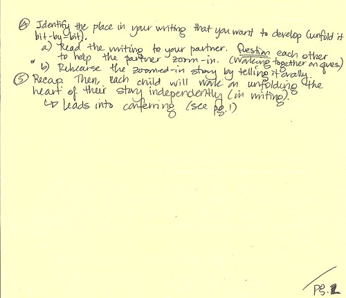 Guided Writing Lesson Back Page