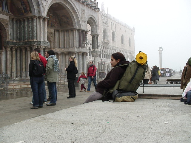 Tenny in Piazza San Marco, Venice
