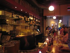 the bar at the Raleigh Times