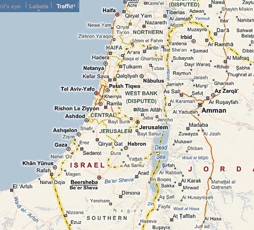 Live Maps Israel