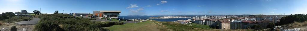 Bahia de Coru�a panorama