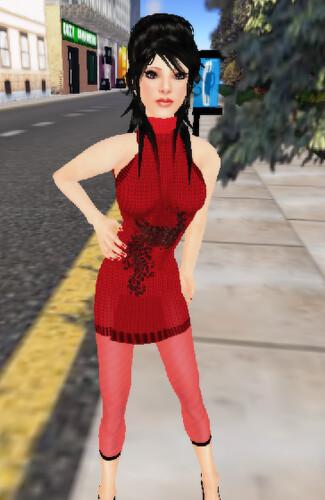 rouge sweater dress