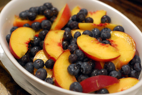 Peaches and Blueberries