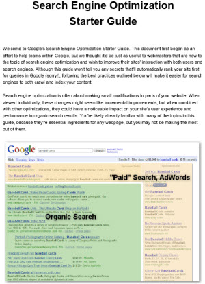 "PDF titled ""Search Engine Optimization Starter Guide"