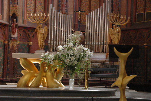 lilies in the church