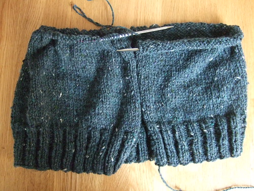 tweed cardigan progress