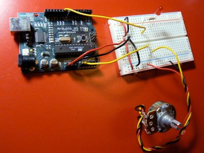 Add a potentiometer and LED
