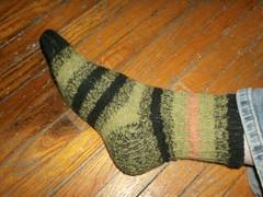 Bayou Sunset sock #1