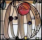 Charles Rennie Mackintosh. Diseño sobre vidrio.