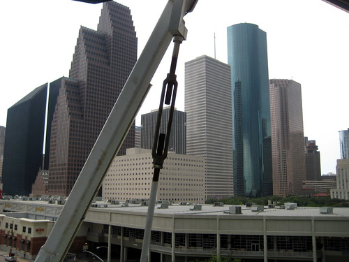 Downtown Houston, from atop the carousel.