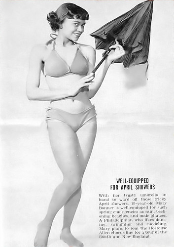 Well Equipped for an April Shower - Jet Magazine, April 21, 1955 by vieilles_annonces.