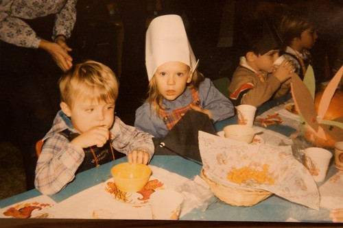 Young Rob at school Thanksgiving
