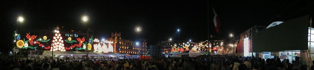 El Zocalo en Navidades, Mexico DF