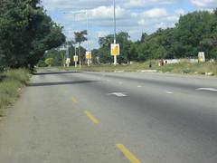 Yellow paint defaces Zanu-PF posters of Robert...
