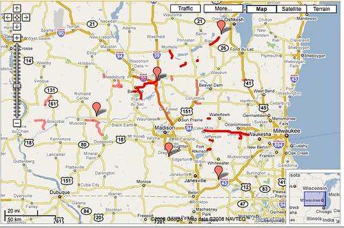 WisDOT closed roads on June 14