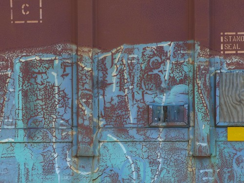 Blue Crazed Graffiti