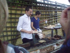 Chris and Keith at the backstage barbecue
