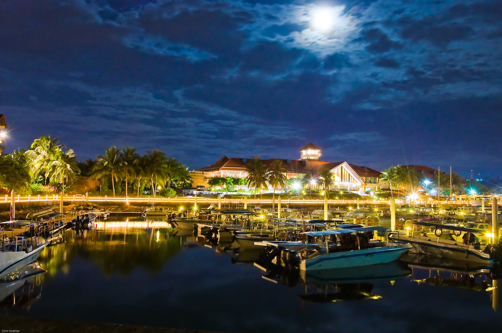 Sutera Resort Harbour at Night.